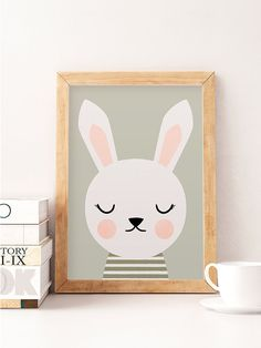 Rabbit wall art, Animals wall decor, Cute wall decor, Nursery prints, Scandinavian kids, Minimalist nursery, Green wall decor, Cute art Printed on Canson 270gsm satin, acid-free paper. Available sizes: A4 / 210 x 297 mm / 8.3 x 11.7 in A3 / 297 x 420 mm / 11.7 x 16.5 in A2 / 420 x 594 mm / 16.5 x 23.4 in All prints are sent in a sturdy cardboard tube. Colors might be slightly different due to different screen color settings. Frame is not included. Thank you