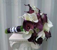 Calla lily Wedding bouquet Bridal bouquet by BrideinBloomWeddings