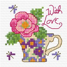 Pretty rose card - several freebies here. Love Lesley Teare's work!