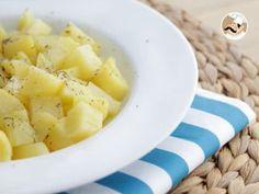 Batatas ao vapor com ervas no microondas