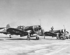 Corsairs of Marine Squadron on Iwo Jima, Japan, Source United States National Archives Us Navy Aircraft, Ww2 Aircraft, Military Aircraft, Fun Fly, Airplane Fighter, Iwo Jima, Ww2 Photos, Vintage Airplanes, United States Army