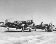 VMA-321 Corsairs on Iwo Jima, 1945.