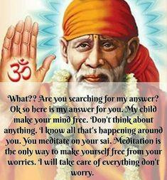 Sai Baba Pictures, God Pictures, Spiritual Religion, Spiritual Quotes, Mommy Quotes, New Quotes, Sai Baba Miracles, Shirdi Sai Baba Wallpapers, Sai Baba Quotes