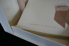 wedding album in linen with matching clamshell box. Personalised lettering on front. Handmade in Somerset by www.blackcatbindery.com email for more info at info@blackcatbindery,com More pictures at https://www.facebook.com/bookbinding