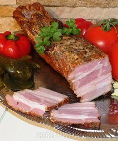 boczek pieczony Pork Recipes, Cooking Recipes, Cold Cuts, Kielbasa, Polish Recipes, Smoking Meat, Charcuterie, Food Photo, Sausage