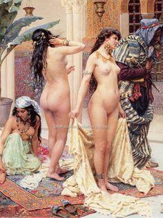 Picking the Favorite (detail) by Giulio Rosati (Painting ID: EI-1183-KA)