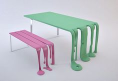 smooth and smoothie bench and table #furniture #design @gibmirraum