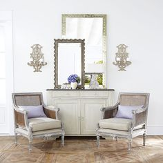 Wisteria - Furniture - Shop by Category - Consoles & Buffets - Gray Gustavian Buffet Thumbnail 2 Painted Furniture, Home Furniture, Furniture Chairs, Furniture Shopping, Dining Chairs, Cane Back Chairs, Interior Decorating, Interior Design, Decorating Ideas