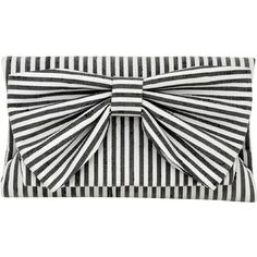 Inge Christopher Didi Fold Over Clutch (1.145 HRK) ❤ liked on Polyvore featuring bags, handbags, clutches, purses, black white, foldover clutches, striped handbag, fold over handbag, black and white purse and black and white stripe purse