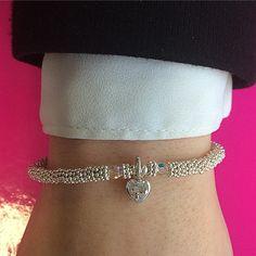 Amiya's Bracelet #AnnieHaak #SterlingSilver Valentine List, Valentines, Bangles, Bracelets, Pandora Charms, Charmed, Jewellery, Sterling Silver, Instagram Posts