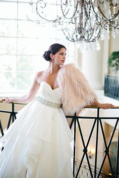 "c2d80d3a65c5 Hayley Paige gown, $3,905, Hayden Olivia Bridal; Erin Grey ""Holly"" sash"