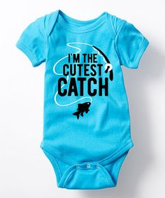 Turquoise 'I'm the Cutest Catch' Bodysuit - Girls