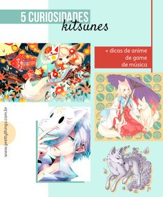 """Para amantes da cultura japonesa, animes e/ou mangás, a palavra """"kitsune"""" deve ser muito familiar, afinal, as kitsunes chamam atenção, por sua beleza e poder. Além das 5 curiosidades, vou indicar 3 animes, 1 jogo e 1 música relacionadas com as kitsunes.  #japão #kitsune #anime #fox #raposa"""