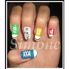 There is no nail job that better expresses who I am on most days than a set of Converse Chucks nails. #nailpolish #fingernail