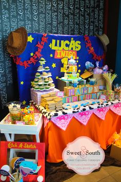 Toy story party, candy buffet, photo props, diy, party ideas, decorations, birthday, kids
