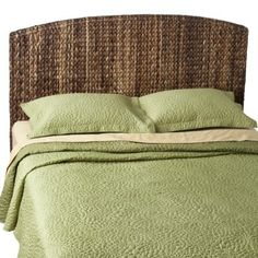 Andres Seagrass Headboard - guest bedroom