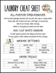 Good No Cost Hottest Free of Charge Teach Your Kids to Do Laundry (Plus Free Laundry Cheat Sh. Thoughts Every week I'll have something new to learn or a simple challenge to make. House Cleaning Checklist, Household Cleaning Tips, Diy Cleaning Products, Cleaning Solutions, Cleaning Hacks, Laundry Schedule, Doing Laundry, Laundry Hacks, Laundry Room