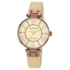 Women'S Beige Leather Strap Watch - Strap - Watches - Women -