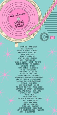 The Ultimate Wedding Playlist | studiodiy.com