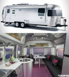 aluminum airstream trailer living on the road. Wouldn't it be cool to take one year and just travel the States.