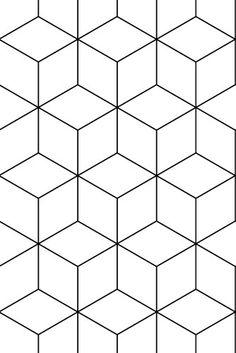 Behang hexagonal