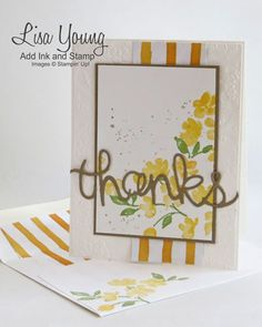Add Ink and Stamp: Painted Petals card and matching Envelope