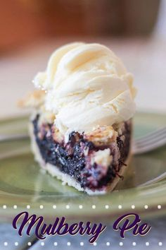 - Delicious Mulberry Pie Recipe using fresh or frozen mulberries. Delicious Mulberry Pie Recipe using fresh or frozen mulberries. Fruit Recipes, Pie Recipes, Baking Recipes, Dessert Recipes, Baking Desserts, Mulberry Pie, Lemon Pie Recipe, Mulberry Recipes, Turnover Recipes