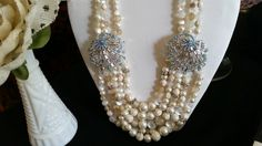 I started selling C + I because of this statement piece. I simply love the Heirloom Pearl Statement Necklace. It's great for brides too!