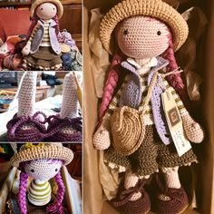 Irresistible Crochet a Doll Ideas. Radiant Crochet a Doll Ideas. Crochet Dolls Free Patterns, Crochet Doll Pattern, Amigurumi Patterns, Amigurumi Doll, Doll Patterns, Crochet Diy, Crochet Quilt, Crochet Motif, Lilly Doll