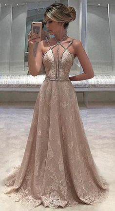 prom dresses,champagne prom dresses,long prom dresses,lace prom dresses,beaded prom dresses @SevenProm