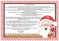 Lovely personalised letter from Santa / Father Christmas - keeping the magic of Christmas alive.......click on the image for further information.