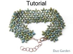 SuperDuo Beaded Flower Bracelet Downloadable Beading Pattern Tutorial | Simple Bead Patterns