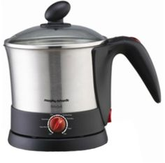 Every individual today believes in cooking healthy and smart to balance the nutritious needs. The easiest and quick solution to all your woes is the Insta Cook electric kettle by Morphy Richards as it not only reduces the time taken but also minimizes effort. This appliance has a 1 litre capacity and is capable of cooking noodles, pasta and making beverages.The Morphy Richards Insta Cook consumes power upto 1200 watts. This appliance features cordless mode of operation.