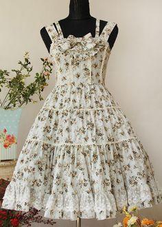 Infanta Spring Cotton Floral Bow Lolita Jumper