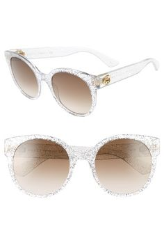 e0b2341b12b3 Free shipping and returns on Gucci 54mm Glitter Sunglasses at  Nordstrom.com. Oversized cat