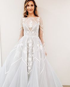 Pale blue hayley paige wedding dress // alicia vikander wedding ideas // sheer ever after weddings Pretty Dresses, Beautiful Dresses, Dresses Dresses, Girls Dresses, Perfect Wedding, Dream Wedding, Lace Wedding, Unique Wedding Dress, After Wedding Dress