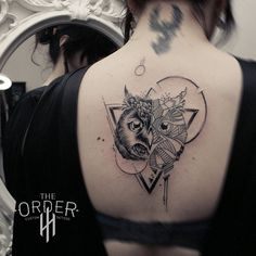 Geometric Owl Tattoo The Order