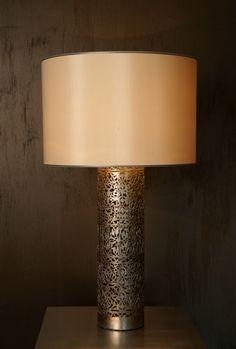 Hem-stitch Cylinder table lamp by Deniz Tunç
