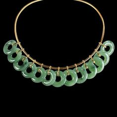 Belperron|Products|Collection|Wai Gu Necklace.Nephrite jade and gold.