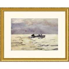 Great American Picture Rowing Home Gold Framed Print - Winslow Homer - 200395-Gold