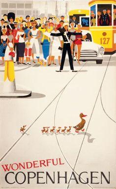"PG330 ""Wonderful Copenhagen"" Poster by Viggo Vagnby (1964)"