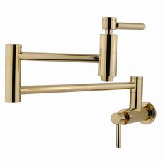Elements of Design Concord Single Handle Wall Mount Pot Filler & Reviews | Wayfair Polished Brass