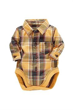Newborn Clothing - Baby Clothes and Infantwear - Next Check Shirt Bodysuit