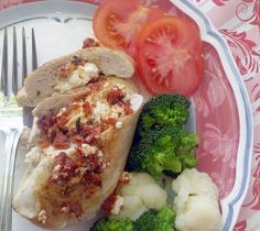 Chicken stuffed with goat cheese & sun-dried tomatoes