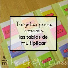 Tarjetas para trabajar la multiplicación. Con estas tarjetas los niños y las niñas aprenderán las tablas de multiplicar de manera divertida.