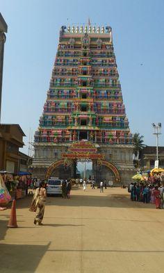 The sringeri temple entrance.