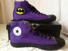 Converse Chuck Taylors Limited Edition Batman DC Comic Joker Shoes Sneaker  10 5  7a5ae2052