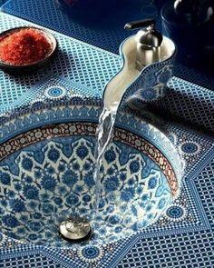 Moroccan bathroom sink design #interior #decor by decor