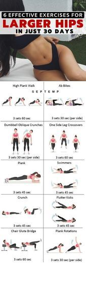 Hip workout Workout Health fitness Health and fitness articles Butt workout Fitness 6 Most Effective Exercises To Get Larger Hips Very Fast Healthy Solutions 24 Summer Body Workouts, Fitness Workouts, Ab Workouts, At Home Workouts, Fitness Motivation, Training Workouts, Fitness Quotes, Fitness Goals, Personal Fitness