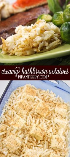 Creamy Hashbrown Potatoes - This is one of my favorite side dishes of all time. FOUR ingredients, one hour in the oven and creamy deliciousness is served!